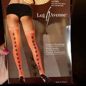 NEW Leg Avenue Fishnet Stockings Halloween